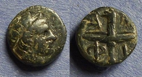 Ancient Coins - Macedonia, Amphipolis 419-357 BC, AE11