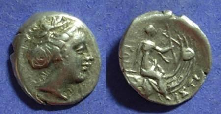 Ancient Coins - Histiaea Euboea Circa 250 BC Tetrobol