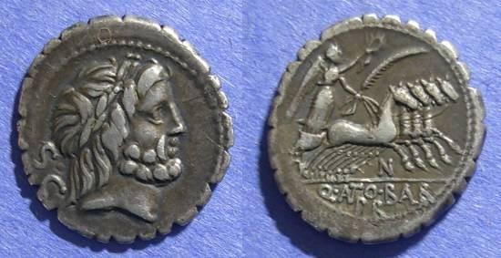 Ancient Coins - Roman Republic, Q Antonius Balbus 83-2 BC, Denarius