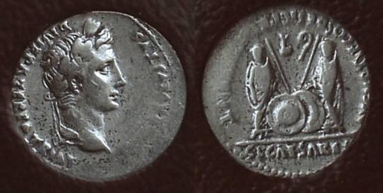 Ancient Coins - Augustus 27BC-14AD Denarius - Slabbed ICG VF20