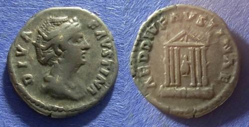 Ancient Coins - Roman Empire Faustina Sr (Wife of A. Pius) d. 141 Denarius