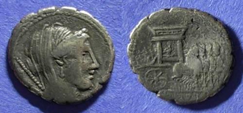 Ancient Coins - Roman Republic, L Rubrius Dossenus 87 BC, Denarius