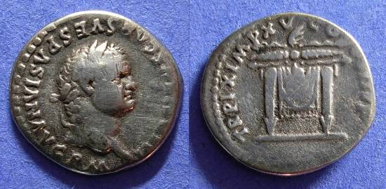 Ancient Coins - Titus (as Augustus) 79-81AD Denarius