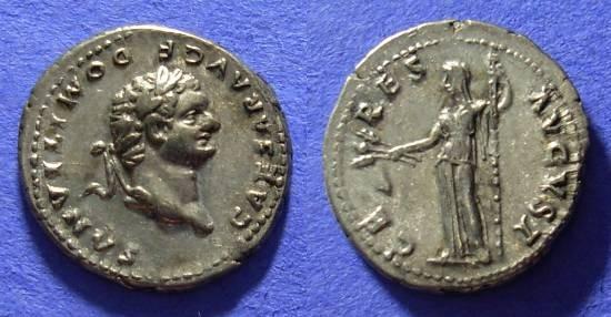 Ancient Coins - Domitian (as Caesar) 69-81AD Denarius