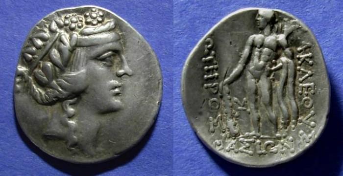 Ancient Coins - Danube Celts, Imitating Thasos Circa 140 BC, Tetradrachm