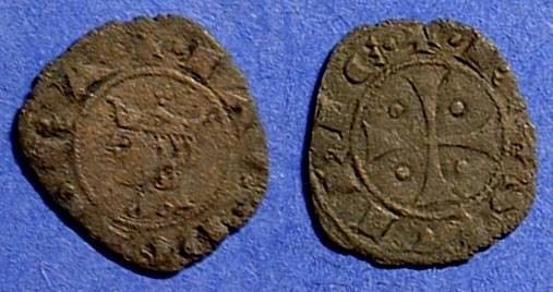 Ancient Coins - Kingdom of Sicily: James I 1286-96 Denaro