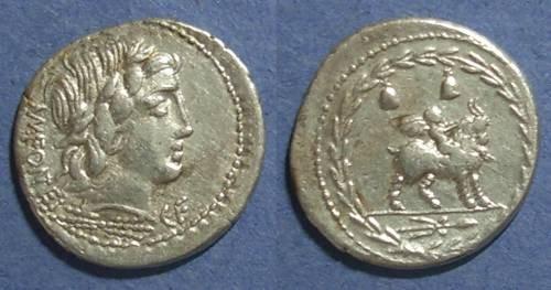Ancient Coins - Roman Republic, Mn Fonteius Cf 85 BC, Denarius