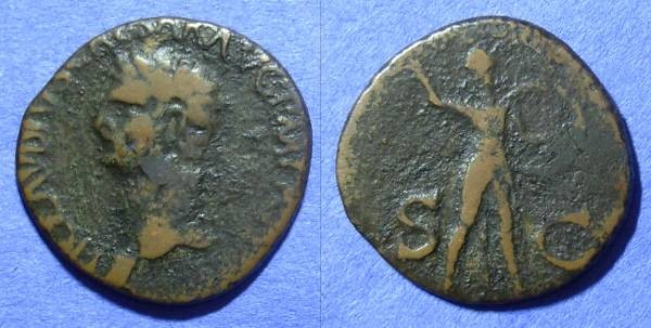 Ancient Coins - Claudius 41-54AD – Aes (Barbarous imitation)