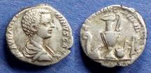 Ancient Coins - Roman Empire, Caracalla (as Caesar) 196-198, Denarius