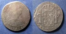 World Coins - Lima Peru, Charles IV 1806, 8 Reales