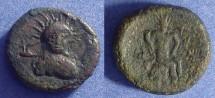 Ancient Coins - Sicily, Leontini - Roman Rule Circa 200 BC, AE22