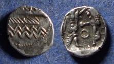 Ancient Coins - Phoenicia, Sidon, Ba'Alshillem II 401-366 BC, Silver 1/16 Shekel