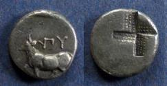 Ancient Coins - Thrace, Byzantion 340-320 BC, Hemidrachm