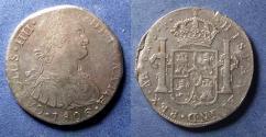 World Coins - Lima Peru, Charles IV 1806, 8 Reales