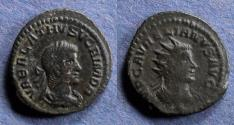 Ancient Coins - Roman Empire, Aurelius with Vabalathus 270-2, Antonininus