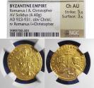Ancient Coins - Byzantine Emipire, Romanus I 923-930, Gold Solidus