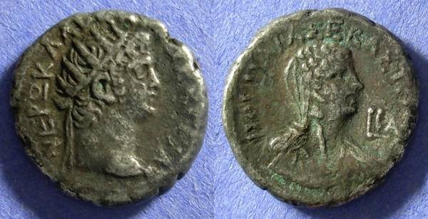 Ancient Coins - Nero 54-68 Roman Egypt – Alexandria – Tetradrachm – Poppaea reverse