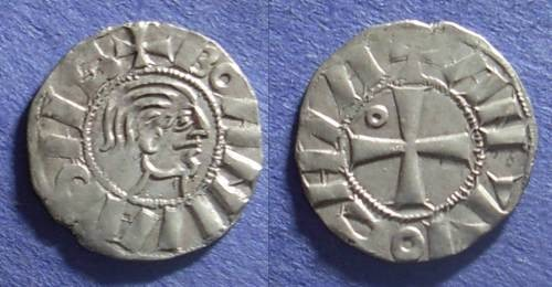 Ancient Coins - Crusader Antioch, Bohemund III (Minority) 1149-63, Denier