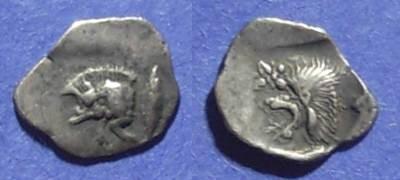 Ancient Coins - Kyzikos, Mysia 480-450 BC, Hemiobol