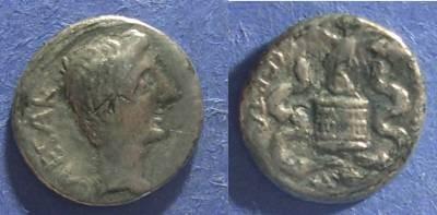 Ancient Coins - Roman Imperatorial, Octavian 28 BC, Quinarius