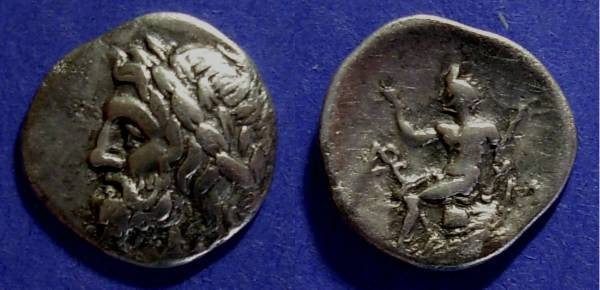 Ancient Coins - Arcadian League,  320-287 BC, Triobol