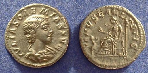 Ancient Coins - Julia Soaemias (Mother of Elagabalus) Denarius 218-222 AD