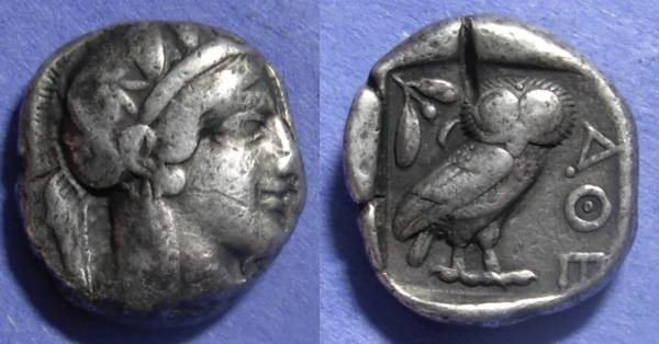 Ancient Coins - Athens, Attica 449-413 BC, Tetradrachm
