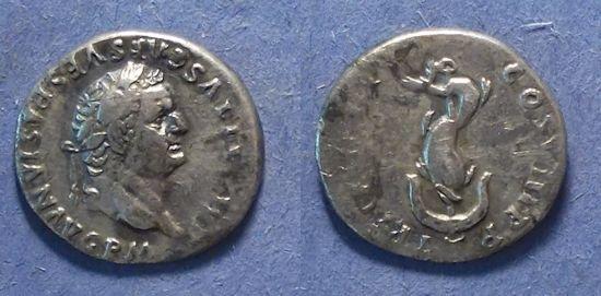 Ancient Coins - Roman Empire, Titus (as Augustus) 79-81, Denarius