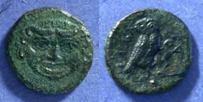 Ancient Coins - Kamarina, Sicily 420-405 BC, Onkia