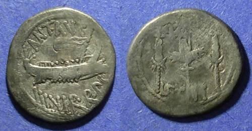Ancient Coins - Roman Imperatorial, Marc Antony 31/30 BC, Denarius