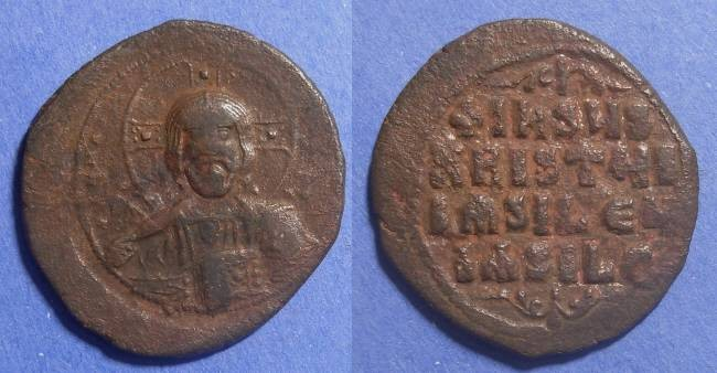 Ancient Coins - Byzantine Empire, HUGH 33mm Anonymous A2 976-1028, Follis