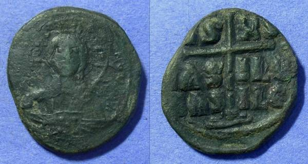 Ancient Coins - Byzantine Empire – Romanus III 1028-1034AD - Anonymous Class B Follis
