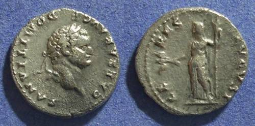 Ancient Coins - Roman Empire, Domitian (as Caesar) 69-81 AD, Denarius