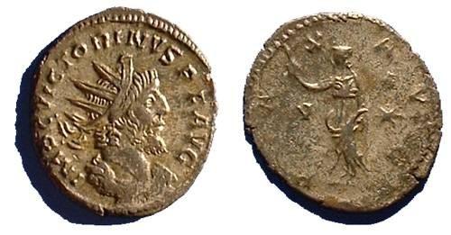 Ancient Coins - Victorinus 269-271 - Gallic Sucessionist Emperor - Silvered Antoninianus
