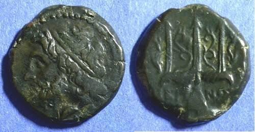 Ancient Coins - Syracuse Sicily, Hieron II 275-215 BC, AE19