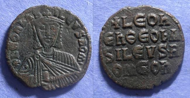 Ancient Coins - Byzantine Empire, Leo VI (the Wise) 886-912, Follis