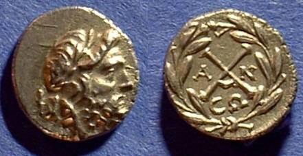 Ancient Coins - Achaean League - Antiogoneia Hemidrachm 196-146BC
