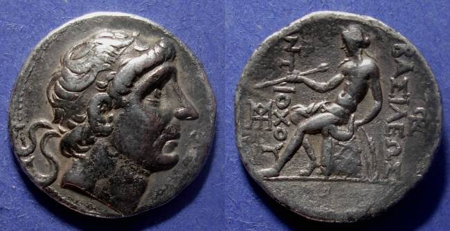 Ancient Coins - Seleucid Kingdom, Antiochos II 281-246 BC, Tetradrachm