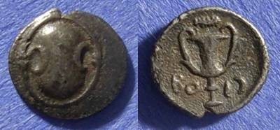 Ancient Coins - Boeotia Thebes 395-340 BC Obol