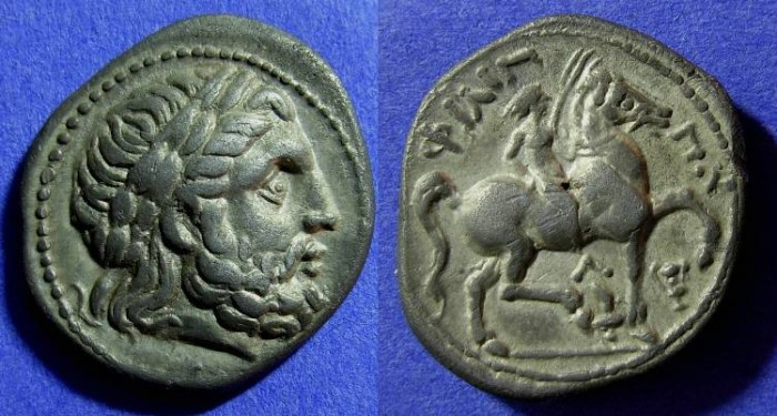 Ancient Coins - Macedonian Kingdom - Philip II 359-336 BC Tetradrachm
