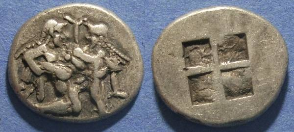 Ancient Coins - Thasos, Islands off Thrace 520-480 BC, Stater