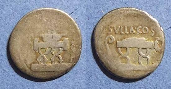 Ancient Coins - Roman Republic, Q Pompeius Rufus 54 BC, Denarius