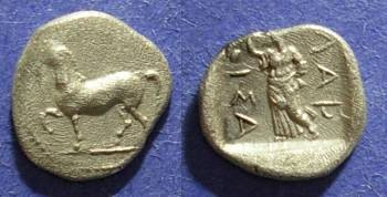 Ancient Coins - Larissa, Thessaly 460-420 BC, Obol