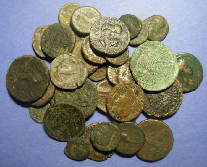 Ancient Coins - 35 Roman Provicial Coins,  Circa 50 to 280 AD,