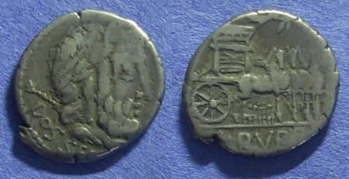 Ancient Coins - Roman Republic - L Rubrius Dossenus Denarius - 87 BC