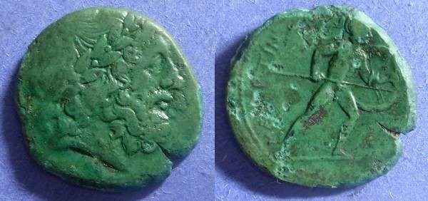 Ancient Coins - Mamertinoi, Messena Sicily 216-208, AE25
