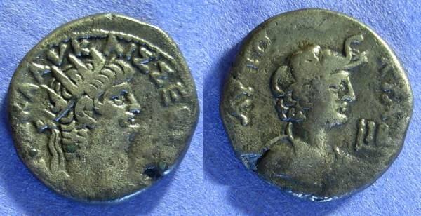 Ancient Coins - Nero 54-68 – Roman Egypt – Alexandria - Tetradrachm