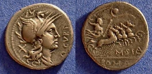 Ancient Coins - Republic Denarius - Curtia 2 - 116/5 BC