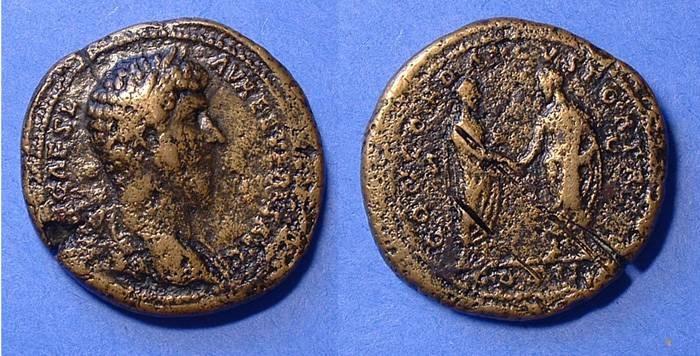 Ancient Coins - Lucius Verus 161-9 Sestertius