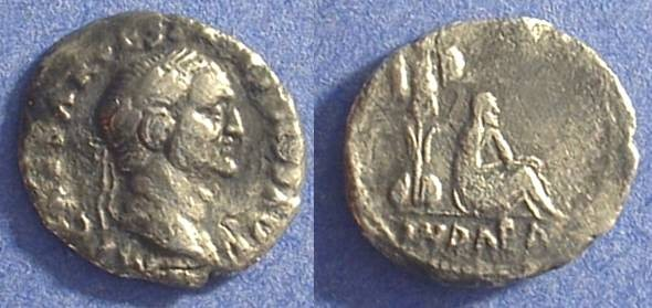 Ancient Coins - Vespasian 69-79AD - Denarius with Judaea reverse - budget example